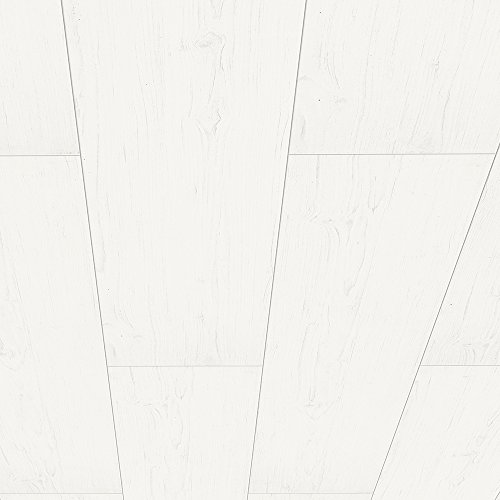 HDM Paneele – Dekor Paneel Pinie Arktis – weiße Deckenpaneele mit Fit-Fix Schnellmontagehilfe – dezente V-Fuge mit Nut-Feder Verbindung - 2600 x 250 x 10mm – 3,25m² pro Paket
