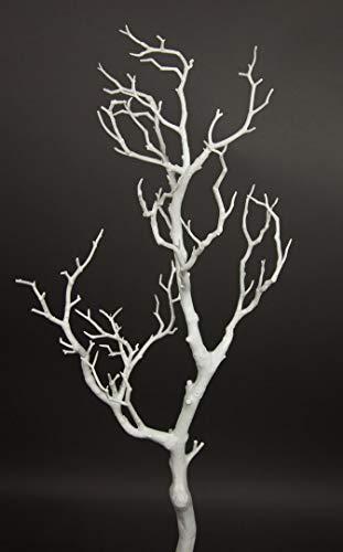Seidenblumen Roß Dekoast/Dekozweig 70cm weiß YF künstlicher AST Zweig Kunstast Kunststoff