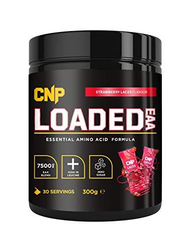 CNP Loaded EAA, Essential Amino Acid, Strawberry Laces, 300g, 30 Serving, EAA BCAA, Recovery & Repair of Muscle (Strawberry Laces)