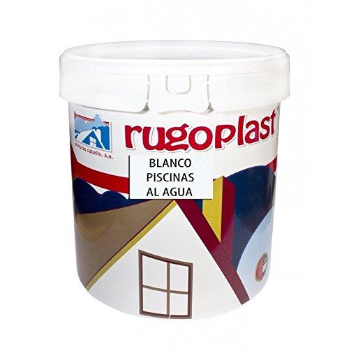 Pintura Piscinas al Agua Azul/Blanco (15L, Blanco) Envío GRATIS 24 h.