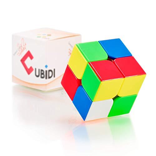 CUBIDI Cubo de Magico 2x2, Tipo Sydney, Velocidad con propiedades optimizadas para Principiantes para Unisex Adultos Sin Pegatina Pieza - 1
