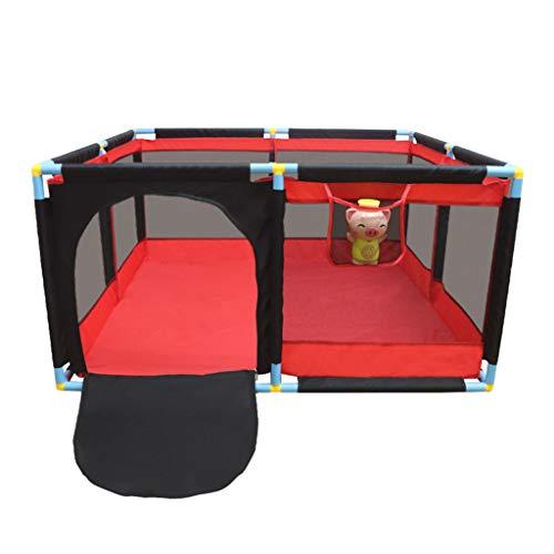 Laufgitter & -ställe Indoor-Spielzaun Spielplatz Kinder-Schutzzaun Ocean Ball Pool Toy Pool Indoor-Spielplatz Kindergeschenk (Color : Red, Size : 128X128X66CM)