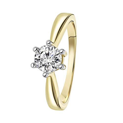Diamond Solitair - Gelbgoldener Solitärring mit Diamant (1.00 ct). - für Damen - Gelb