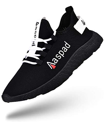 Aaspad Mens Shoes Running Shoes for Men Fashion Sneakers for Work Men's Athletic Walking Shoes Outdoor Tennis Shoes Casual Slip-ons Men's House Health Care & Food Service Shoes (10.5,Black)