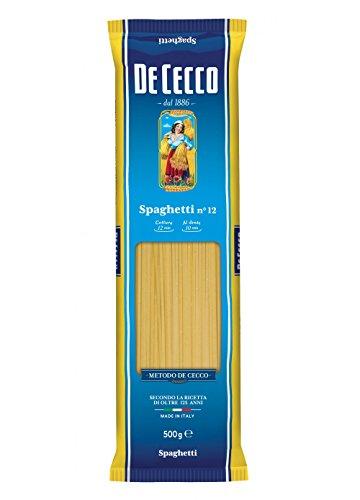 De Cecco 5X Espagueti No. 12 pâte italienne 500 g.