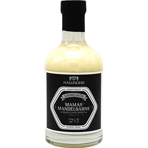 Hallingers Premium Mandel-Sahne-Likör (350ml) - Mamas Mandelsahne 17% vol. (Exklusivflasche) - zu Weihnachten