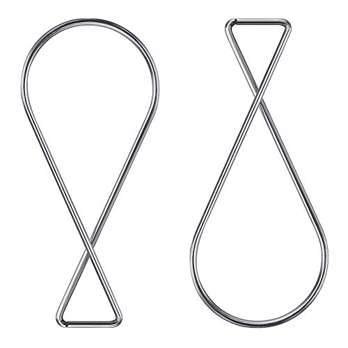 100 Pack Ceiling Hook Clips,Vkermury T-Bar Squeeze Hangers Clips Drop Ceiling Clips for Office, Classroom, Home and Wedding Decoration, Hanging Sign from Suspended Tile/Grid/Drop Ceilings Photo #7