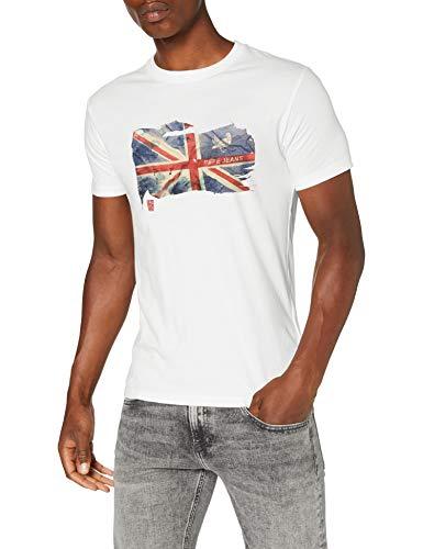 Pepe Jeans SID Camiseta, Blanco (Off White 803), Large para Hombre