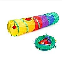 8色面白いペットトンネル猫プレイ虹トンネルトンネル折りたたみ2穴猫トンネル子猫玩具バルクのおもちゃウサギトンネル猫洞窟,Rainbow