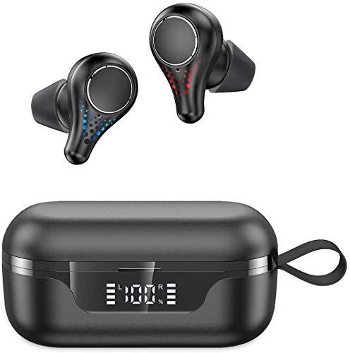 Bluetooth Kopfhörer, Upgraded Kabellose Kopfhörer Bluetooth 5.0 TWS In Ear Kopfhörer Wireless Headphones Noise Cancelling HiFI APTX Kopfhörer 42H Spielzeit mit Mikrofon und Ladetasche IPX7 Wasserdicht