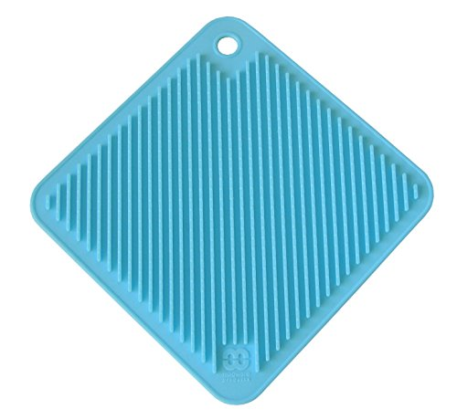So-Cool Silicone Pot Holder/Trivet, Light Blue