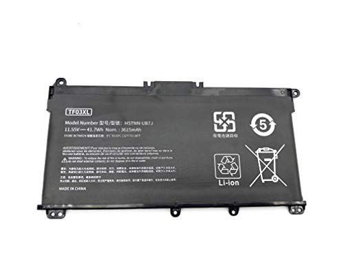 Aluo TF03XL 11.55V41.7wh New Laptop Battery for HP Pavilion 17-AR007CA 17-AR050WM 15-CC 15-CD 15-cc154cl 15-cc060wm 15-cc152od 15-cc055od 15-cd040wm 920046-121 920046-421 541 920070-855 HSTNN-IB7Y