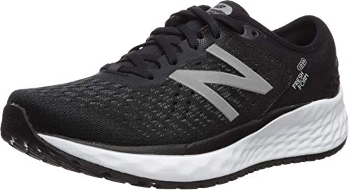 New Balance Women's 1080v9 Fresh Foam Running Shoe, Black/White, 7 M US