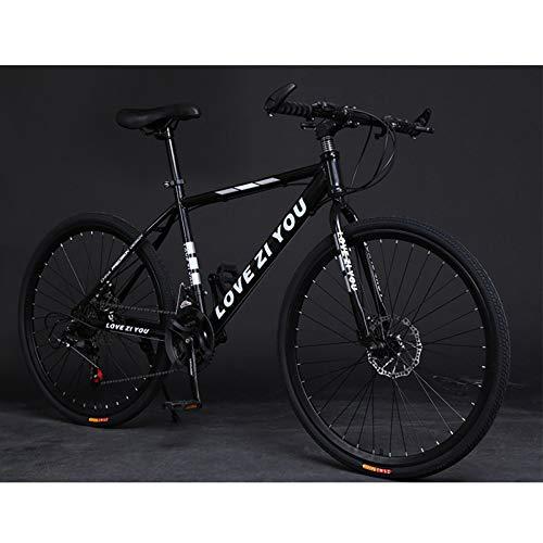 TRGCJGH Adult Mountainbike Carbon Steel Mountainbike 21-Gang-Fahrrad Vollfederung MTB-Getriebe Doppelscheibenbremsen Mountainbike,C-26inch27speed