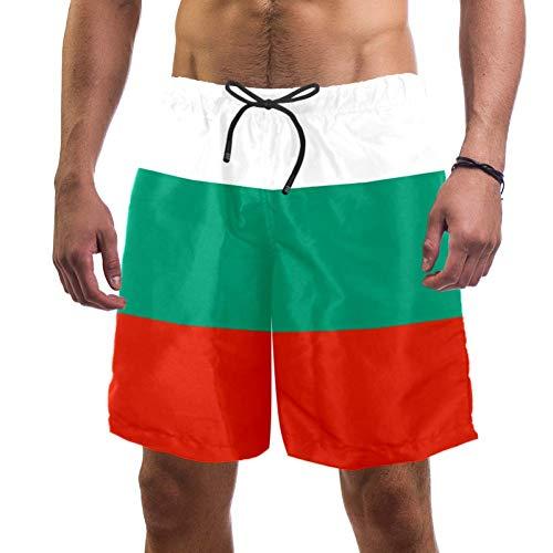 Eslifey - Bañador para hombre, diseño de bandera de Bulgaria multicolor XXL