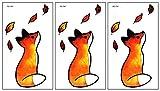 PARITA Small Tattoos Cute Little Fox Sitting in a Fallen Leaf Temporary Tattoos Cartoon Kids for Man Women Tattoo Art Body Arm Leg Chest Shoulder Tattoos Decal Stickers Fantasy (Pack 3 PCS.) (15)