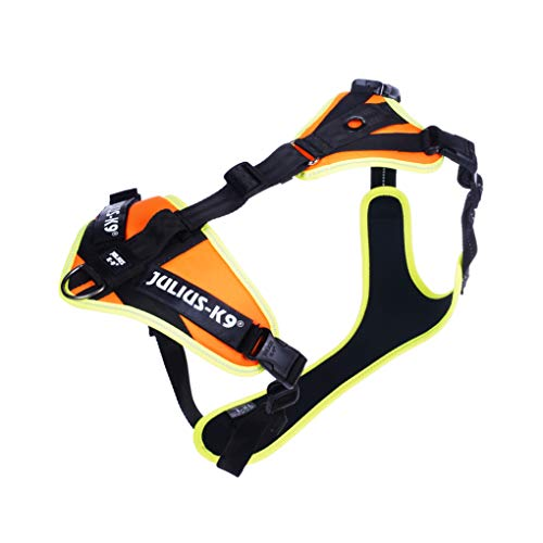 Julius-K9 19MTR-for-L-XL-AMZ Mantrailing & Outdoor Hundegeschirr, Größe: L-XL, UV orange mit neon Rand, UV orange mit neon Rand, 304 g
