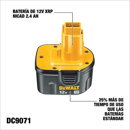 DEWALT 12 Volt Battery Replacement, NiCd, 2.4-Ah (DC9071)