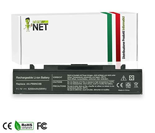 Notebook Laptop batteria Accu 11.1v 6600mah Nero per Samsung rf510 s02