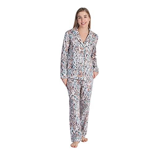 L1NK STUDIO Mujer Pijama Pantalon Largo, Tunez, XS