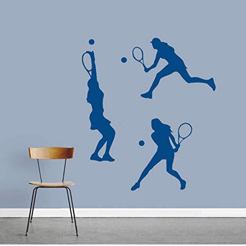 Muurstickers Tennis Meisje Pak Sport Decoratie Woonkamer Decoratie PVC DIY Office Sticker het kan verplaatsen Keuken Home Decoratie Art Decal Kind 42x47