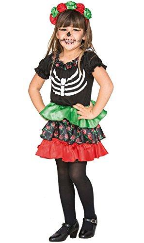 Fyasa 706465-T00 Catrina - Disfraz para niña de 2 a 3 años, multicolor
