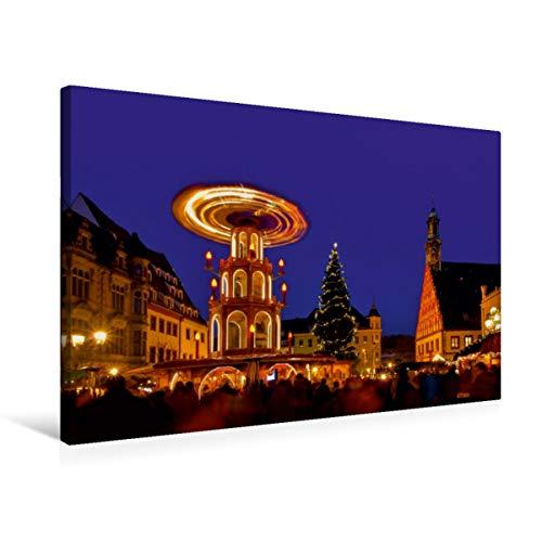 Calvendo Premium Textil-Leinwand 75 cm x 50 cm Quer, Weihnachtsmarkt Zwickau   Wandbild, Bild auf Keilrahmen, Fertigbild auf Echter Leinwand, Leinwanddruck: Weihnachtliches Deutschland Orte Orte