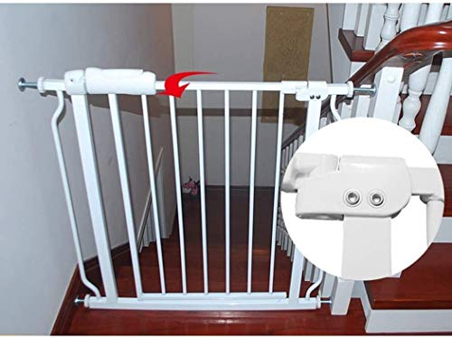 Gwendolyn Vallas Presión Fit Seguridad Puerta de Metal Soportes de 78cm de Altura El Ancho se Puede Seleccionar de 61 a 265,9 Puerta for Mascotas Puerta del bebé con Posibilidad de ampliación