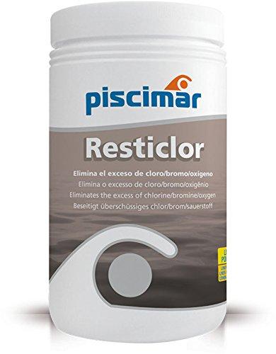 Piscimar PM-607 Resticlor: Reductor de Cloro, bromo o peróxido de hidrógeno. Bote 1 Kg.