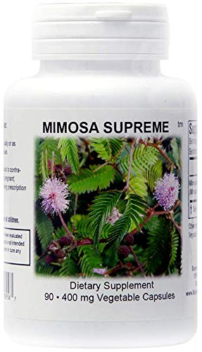 Supreme Nutrition Mimosa Supreme, 90 Organic Mimosa Pudica Seed 400 mg Capsules | 800 mg per Serving