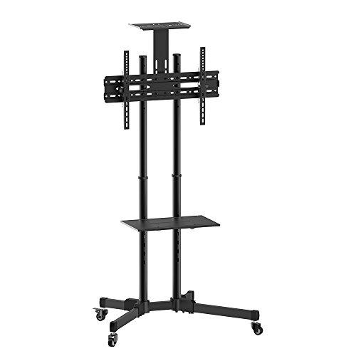Suporte Pedestal com Rodas para TV, ELG, A06V6_S, Preto