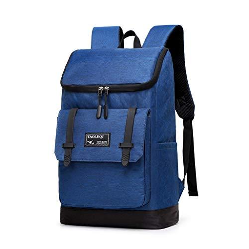 WXBP Der Neue Schüler Schultasche männlich weiblich Freizeit Rucksack Outdoor-Reisen wasserdicht Hochleistungs-Rucksack Paket (Color : Blue, Size : Free Size)