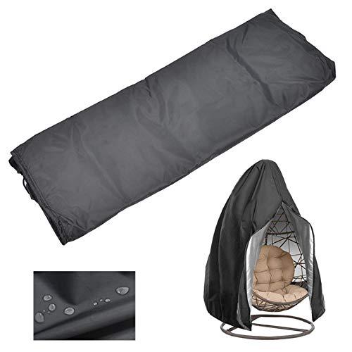 Protector de funda para silla colgante ligera, resistente al polvo, duradera, impermeable, funda a prueba de polvo para muebles de exterior, columpio, silla colgante, etc.