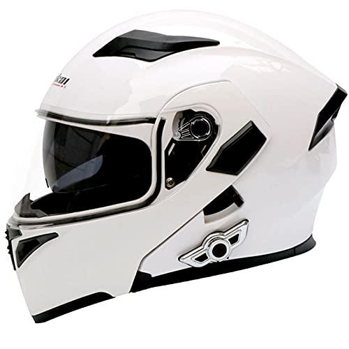 Cascos Bluetooth Para Motocicleta, Casco Integral Para Motocicleta Con Bluetooth Integrado Modular Abatible Hacia Arriba, Intercomunicador Fm Mp3 Casco Aprobado Por Dot/Ece,#8,L