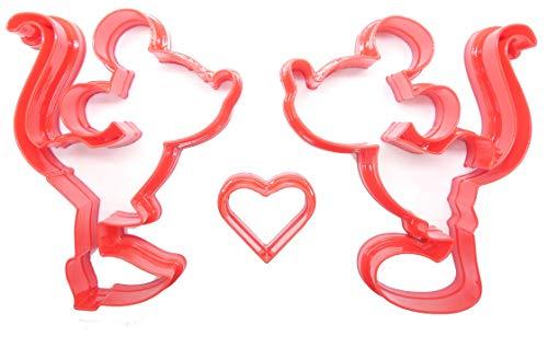 Goggly Mickey & Minnie Kissing Ausstechformen, 3 Stück