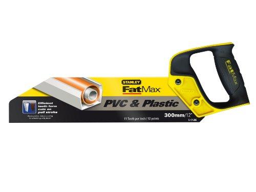 Stanley 2-17-206 Fatmax Scie pour Pvc et Plastique 300 mm Gamme Fatmax - Fabriquée en France - denture 11 dents - Traitement HardPoint - Poignée Bi-matière Plus Confortable - 4 Angles de Traçage