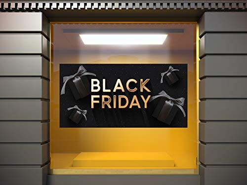 Oedim Vinilo Adhesivo Transparente en Efecto Espejo Rebajas Black Friday Fondo Negro | 100 x 50 cm | Vinilo Económico y Original | Vinilo fondeado de Blanco