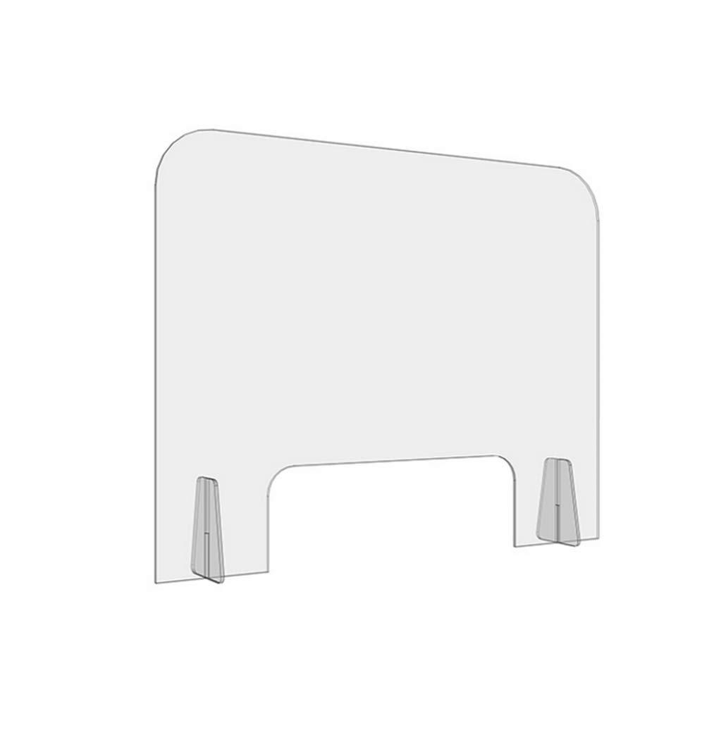 HSBAIS Mampara De ProteccióN, con ventanilla Mampara mostrador Plexiglás Pantalla Proteccion Acrílico Pantalla de protección para Entre los Empleados y los Clientes,50x60cm: Amazon.es: Hogar