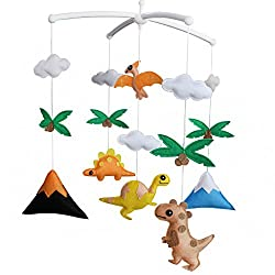 5. Black Temptation Store Musical Baby Crib Mobile Toy with Arm