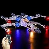QZPM Kit De Iluminación Led para Lego (X-Wing Fighter) Compatible con Ladrillos De Construcción Lego Modelo 75301, Juego De Legos No Incluido,B