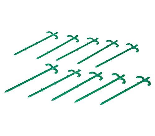 Dehner Folienhalter zur Befestigung von Netzen, Folien etc., 24 cm, 10 Stück