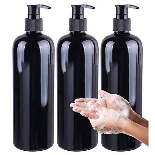 Botellas Vacías de 500 Ml de Champú Botella de Loción Simple para Emulsión de Espuma Dispensador de Jabón Reutilizable Botella de Champú para Dispensar Champú En Gel de Ducha(3 Piezas)