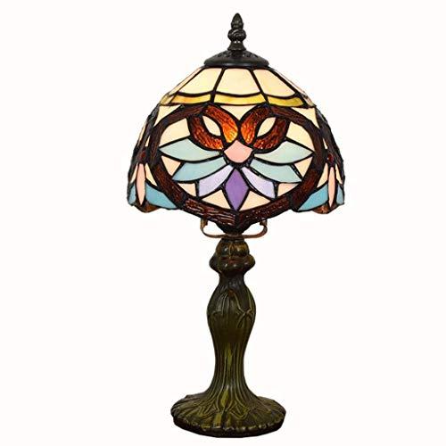 DTTDV Lampe Meer blau Glasmalerei und Kristall Perle Libelle Stil Tischlampen Höhe Couchtisch Wohnzimmer antiker Schreibtisch neben Schlafzimmer