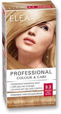 ELEA PROFESSIONAL CREME DE COLORATION PERMANENTE POUR CHEVEUX 9.3 blond clair doré AVEC COMPLEXE DE SOIN D'HUILES