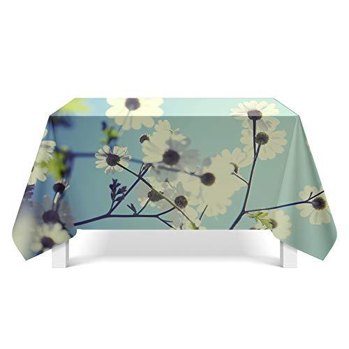 DREAMING-Kleine Florale Tischdecke Home Esstisch Stoff Tv-Schrank Couchtisch Stoff Runde Tisch Tischset 110cm * 170cm