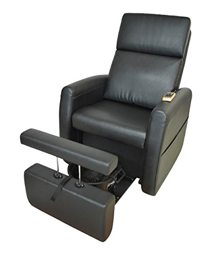 Pibbs Lounge Pedicure Spa Chair with Vibration Massage, Model PS9, Motorized Reclining Chair Back,...