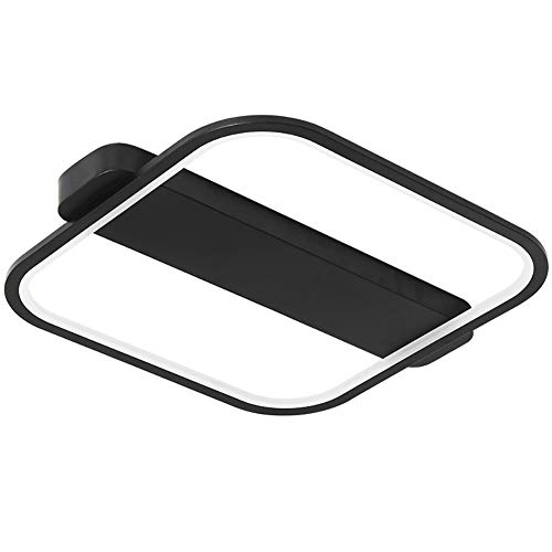 Moderno Simple Plafón Cuadrado Pantalla De Acrílico Montaje Al Ras Lámpara De Techo Personalidad Plafón Accesorio Salón Comedor Plafón-Atenuación remota 62cm(24inch)