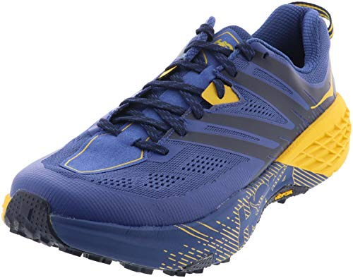 HOKA ONE ONE Mens Speedgoat 3 Blue/Old Gold Trail Runner - 11