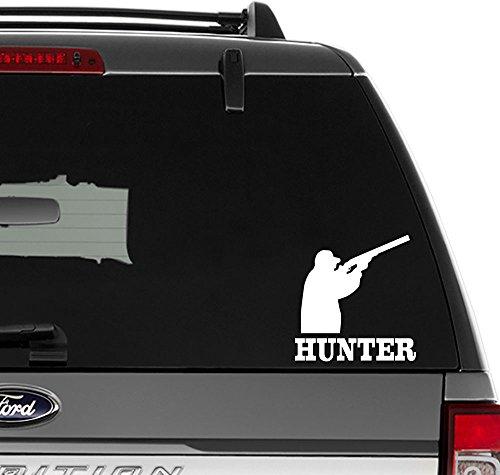 Hunter Hunting Vinyl Sticker voor muurdecoratie, ramen, Laptop, auto, vrachtwagen, motorfiets, voertuigen (afmeting-6 inch/15 cm hoog) - (Gloss BLACK kleur)