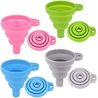 4-Pack Silicone Collapsible Funnels